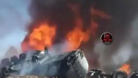 حادثه اتش سوزی تانکر سوخت در جاده چوبار ،کرمان از زوایه ای دیگر