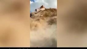 تصاویری وحشتناک از ریزش کوه در قرقیزستان