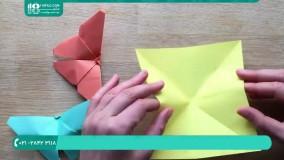 آموزش ساخت گام به گام طرح پروانه با استفاده از کاغذ