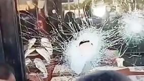 صحنه به جا مانده از سرقت مسلحانه ناکام در فولادشهر اصفهان