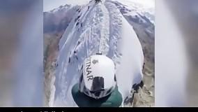 لحظات هیجان انگیز عبور از صخرههای یخی