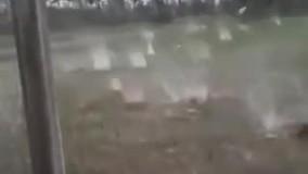 بارش تگرگ های بزرگ و باورنکردنی