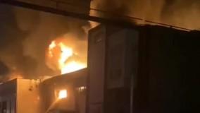 تصاویری از آتش سوزی در شهر لبنیات