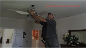 اتصال قطعات پنکه سقفی به یکدیگر برای نصب
