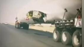 انتقال هواپیمای مسافربری حادثه دیده در ماهشهر خوزستان