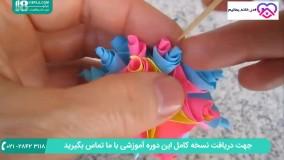 مراحل ساخت اوریگامی سه بعدی به شکل لوستر