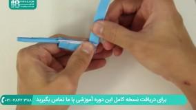 آموزش ساخت اوریگامی تفنگ به کودکان پیش دبستانی