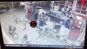 فیلم لحظه انفجار مرگبار پمپ بنزین تاکستان
