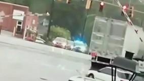 تصادف وحشتناک کامیون و قطار