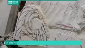 یادگیری سنگ تراشی دست مجسمه سنگی
