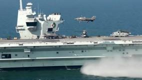 فرود و پرواز هواپیمای F-35B بر روی ناو هواپیمابر