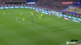 خلاصه بازی بارسلونا 4 - ویارئال صفر