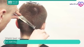 روش اصلاح مو مدل مردانه با استفاده از قیچی و موزر