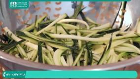 دستور پخت نودل نارگیل سبزیجات به سبک تایلند