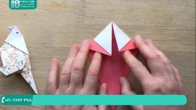 طرز ساخت اوریگامی پرنده به صورت فانتزی