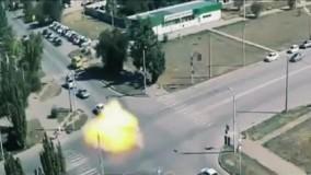 انفجار وحشتناک مینی بوسی پر از سیلندرهای گاز