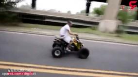 فیلم حادثه خونین برای سرنشین موتور چهارچرخ