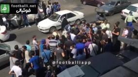 تجمع هواداران استقلال مقابل باشگاه