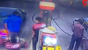 حمله قداره کش ها به مسئولان پمپ بنزین در همدان