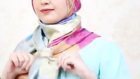 مدل خیلی جذاب بستن روسری برای زیر چادر