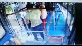 چاقو کشی در اتوبوس برای سرقت از مسافران
