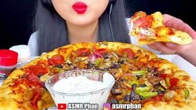چالش خوردن پیتزا ؛ فود اسمر