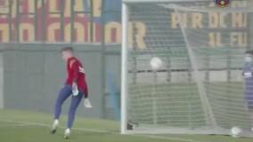 حضور لیونل مسی در تمرینات بارسلونا
