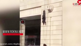 فیلمی باور نکردنی از نجات جان زن جوان از دست مرد مسلح : شلیک به جمجمه