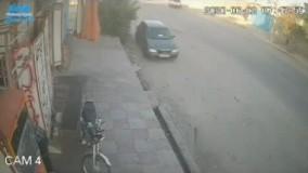 لحظه سرقت یک موتورسیکلت در اهواز در چند ثانیه