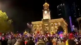 جشن و پایکوبی آغاز سال نو  در ووهان چین