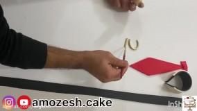 آموزش تزئین کیک پیراهن مردانه