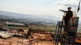 رونمایی از تندیس شهید سلیمانی در مرز اسرائیل
