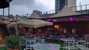 حقانی 09380039391-سایبان خیمه ای کافه رستوران- پوشش سقف تراس رستوران عربی