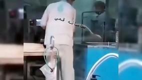 حرکات زننده یک شاگرد نانوایی در تهران ؛ او دستگیر شد