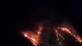 آتش سوزی جنگل های حیران وارد ایران شد ؛تردد بین اردبیل آستارا ممنوع شد