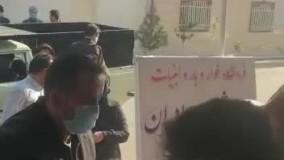 صف مردم در شهرستان آق قلا استان گلستان برای گرفتن روغن