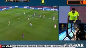 اخراج مسی در فینال سوپرجام اسپانیا