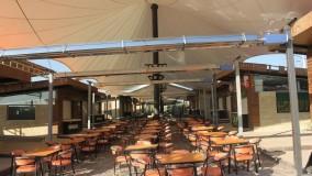 حقانی 09380039391-زیباترین سقف چادری کافه رستوران عربی- فروش سقف خیمه ای رستوران بام تالار