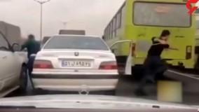 صحنه های واقعی تعقیب و گریز پلیس با مجرمان