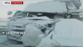 لحظه هولناک تصادف صدها خودرو در شمال ژاپن