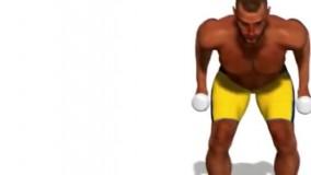 آموزش حرکت پشت بازو دمبل کیک بک