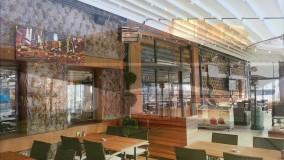 حقانی 09380039391-زیباترین سقف برقی کافه رستوران ایتالیایی- سقف برقی بام پیتزا فروشی