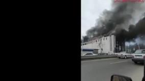 فیلم آتش سوزی مجتمع تجاری الماس شرق