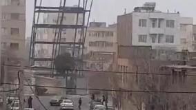 سقوط اسکلت فلزی ساختمان