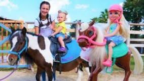 بازی های دخترانه با عروسک باربی - اسب سواری چلسی