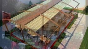 حقانی09380039391-زیباترین سقف برقی حیاط رستوران- سایبان ریموتدار کافی شاپ-سقف جمع شونده رستوران بام
