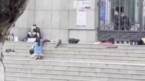 لحظه اصابت گلوله پلیس چین به گروگانگیر