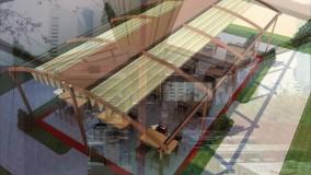 حقانی 09380039391-زیباترین سقف برقی فودکورت- سایبان متحرک روفگاردن کافه