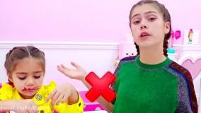 ناستیا و میا ؛ میا از استیسی رفتار خوب برای دختران را می آموزد