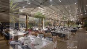 حقانی 09380039391-زیباترین سقف متحرک رستوران فرانسوی- سایبان برقی روفگاردن کافه مجتمع پذیرایی